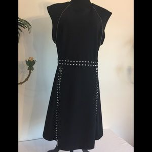 Michael Kors black knit dress silver studs Size XL
